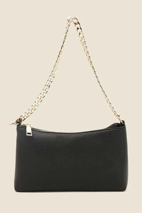 TOKEN Chain Shoulder Bag Black/Gold