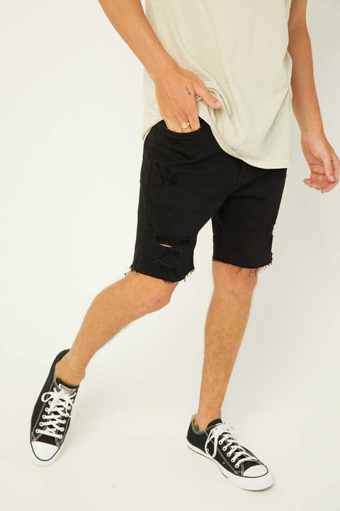 ABRAND A Dropped Skinny Short Black Rip