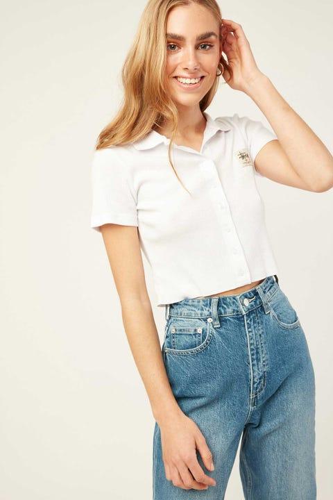 STUSSY Markham Rib Shirt White White