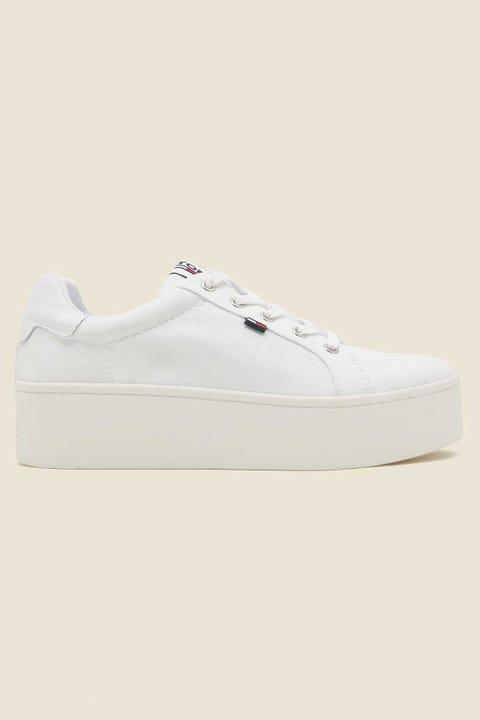 TOMMY JEANS Flatform Sneaker White
