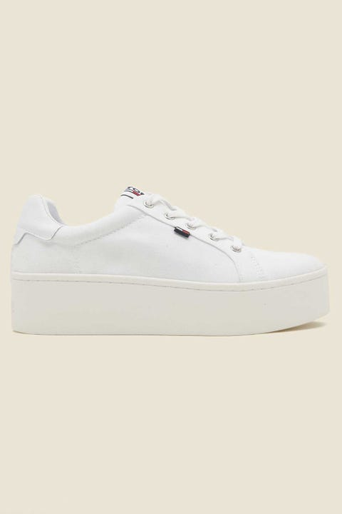 Tommy Jeans Womens Flatform Sneaker White