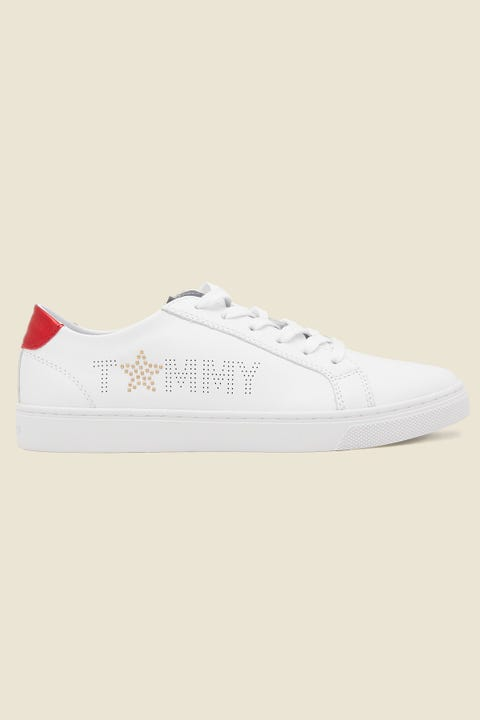Tommy Jeans Womens Star Metallic Sneaker White/Red/Blue