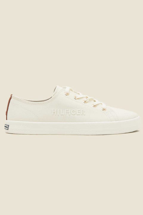 Tommy Jeans Womens Basic Sneaker Ivory