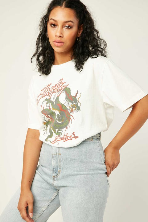 Thrills Bad Luck Merch Tee Diry White