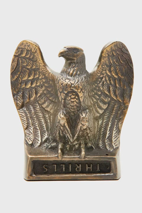 Thrills Metal Eagle Incense Holder Antique Brass