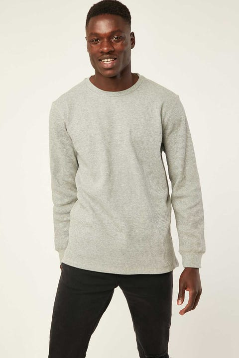 COMMON NEED Slim Comfort Longsleeve Tee Gray Marle
