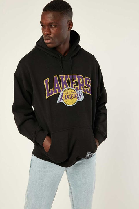 Mitchell & Ness Lakers Hoodie Washed Black