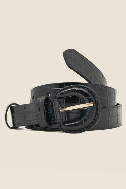 TOKEN Zoey Thin Belt Black