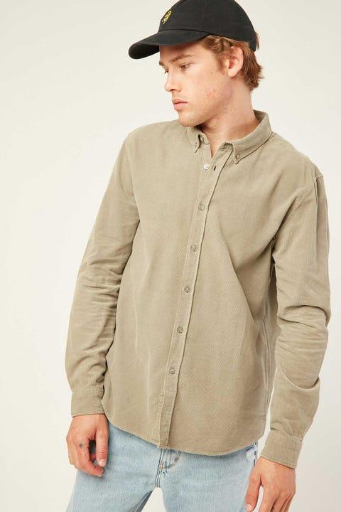 COMMON NEED Garcia Cord Longsleeve Shirt Sage Green
