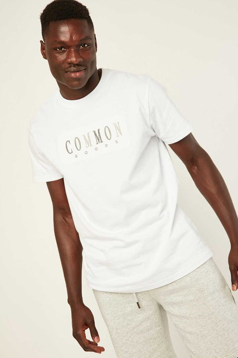 COMMON NEED Jaded Tee White