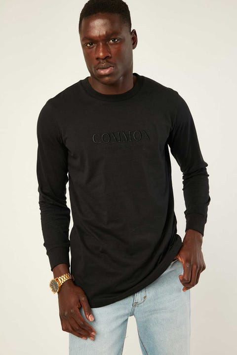 Common Need Enamel Longsleeve Tee Black