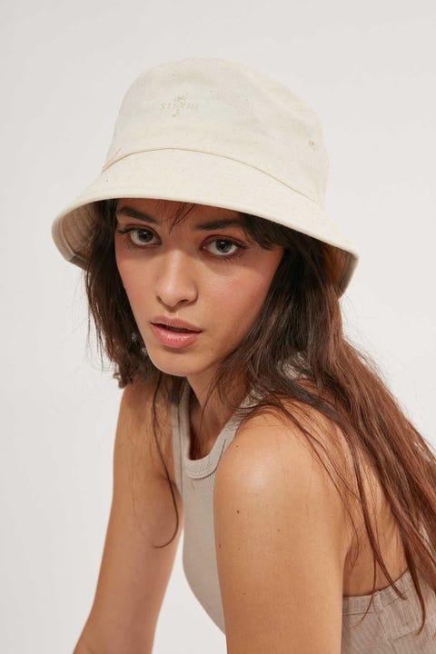THRILLS Palm Embro Bucket Hat Unbleached
