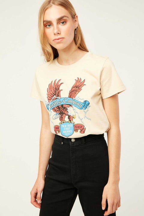 Thrills Electric Eagle Band Tee Thrift White