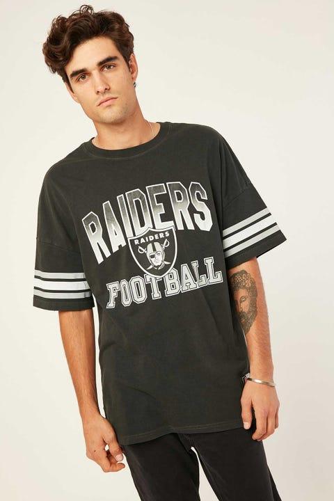 Mitchell & Ness Raiders Stripe Sleeve Tee Pirate Black