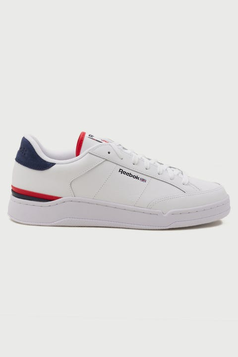 Reebok Mens AD Court White/Navy/Red