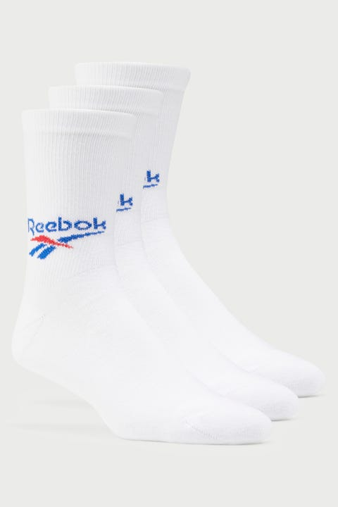 Reebok CL FO Crew Sock 3 Pack White