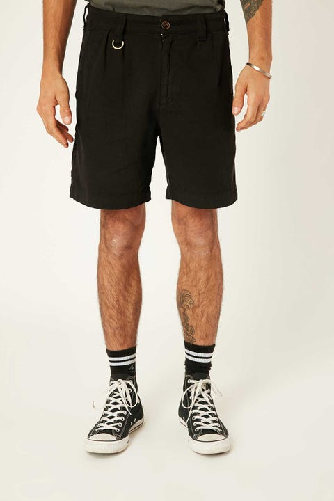 Thrills Workshop Short Washed Black