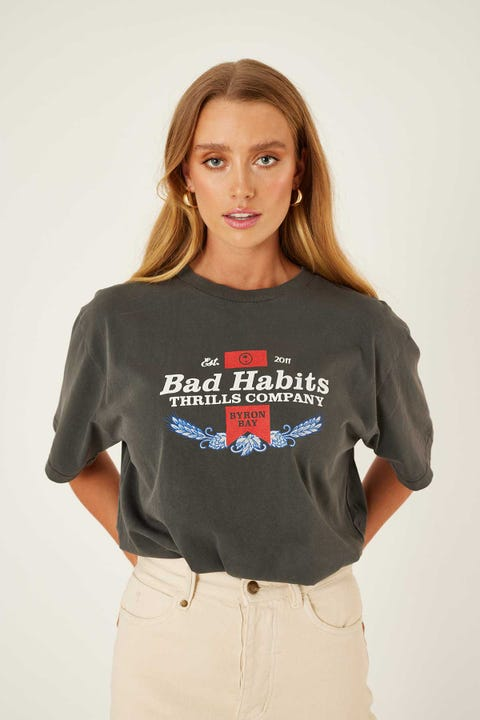 Thrills Bad Habits Merch Tee Merch Black
