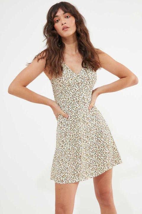 Thrills Acacia Sleeveless Dress Thrift White