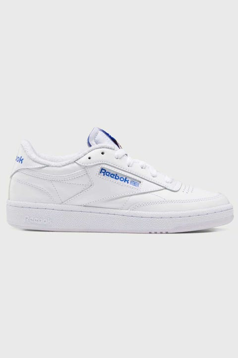 Reebok Womens Club C 85 White/LuminousLilac/CourtBlue