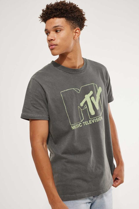 Rolla's MTV Glow Logo Tee Black