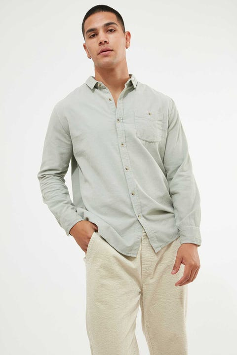 Rolla's Men At Work Cord Shirt Seaspray