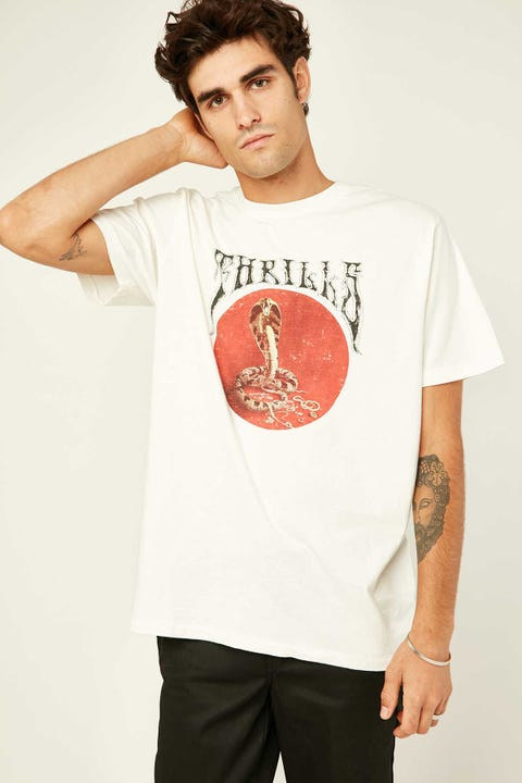THRILLS Hysteria Merch Fit Tee Dirty White
