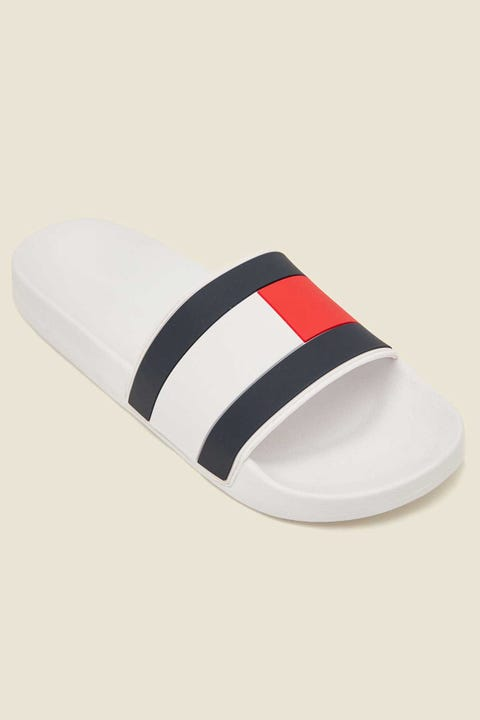 TOMMY JEANS Essential Flag Pool Slide White