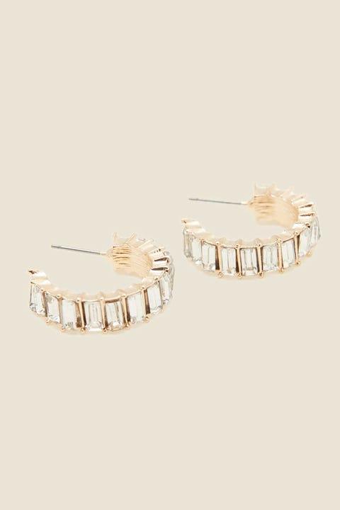 TOKEN Diamante Hoop Earring Gold