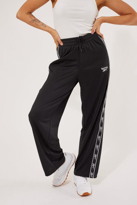 Reebok Poly Wide Tape Pants Black