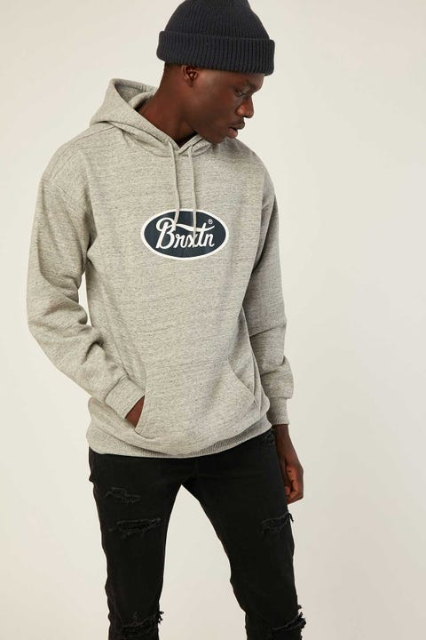Brixton Parsons Hood Heather Grey