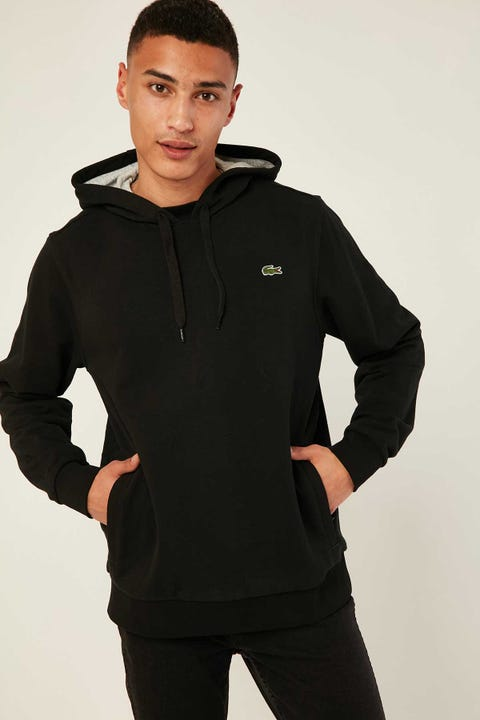 Lacoste Training Non Brushed Hoodie Black