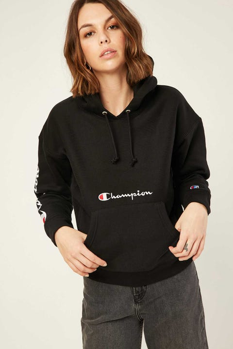 Champion Multi Script Hood Black