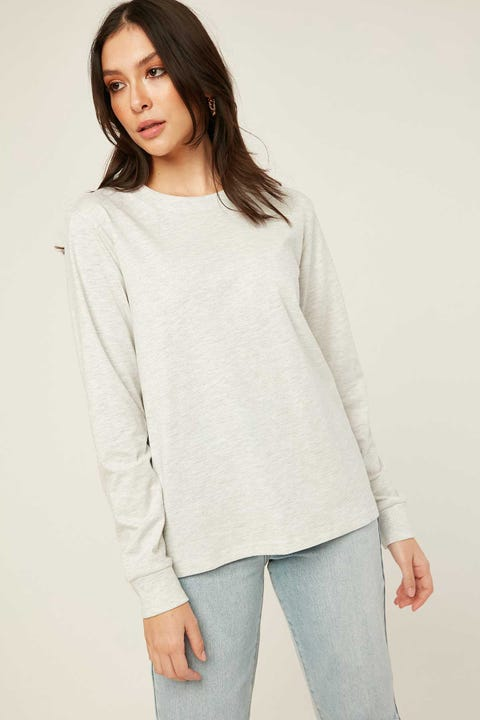 AS Colour Dice Long Sleeve Ash Heather