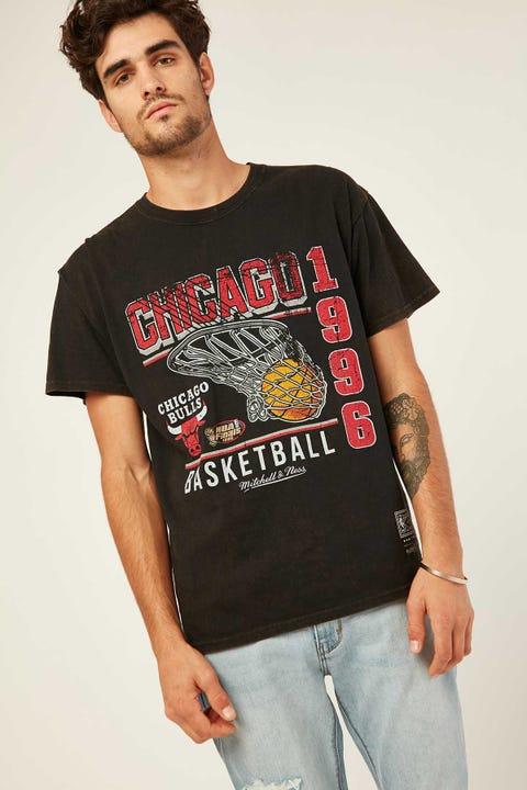 Mitchell & Ness Bulls Vintage Basket Tee Vintage Black
