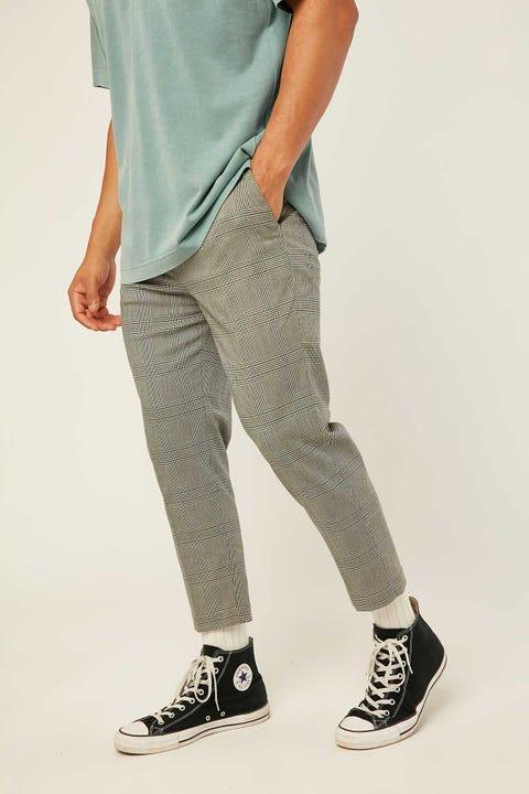 COMMON NEED Richmond Check Pant Grey/Teal Check