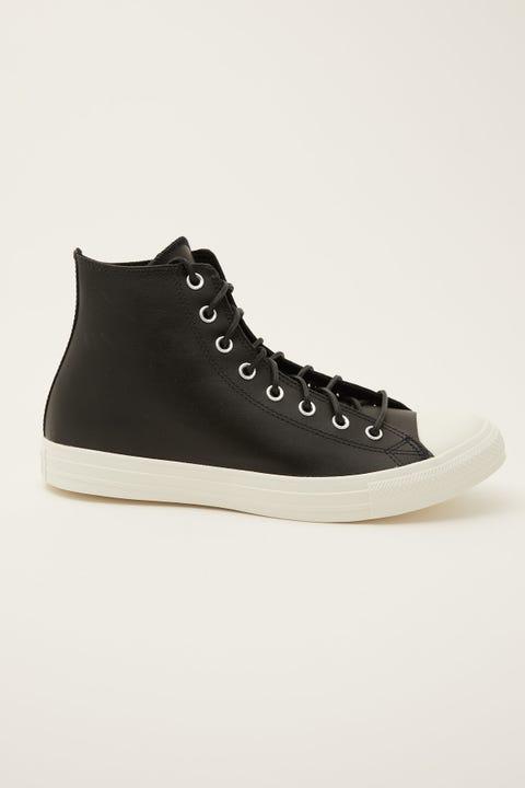 Converse All Star Hi Leather Black/Black/Egret