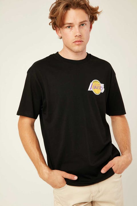 Mitchell & Ness Retro Repeat Lakers SS Tee Black