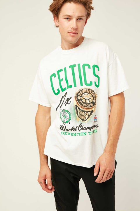 Mitchell & Ness Vintage Celtics Bling Ring Tee Vintage White