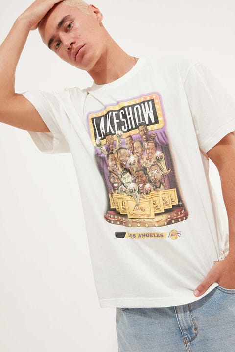Mitchell & Ness Lakeshow Cartoon Series Tee Vintage White