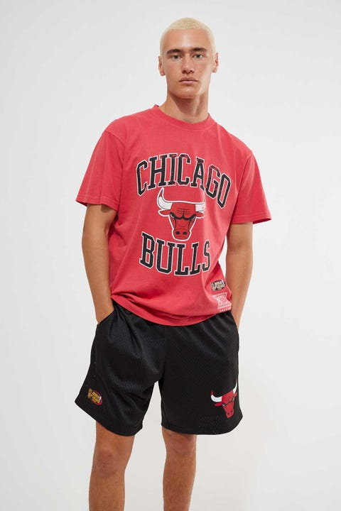 Mitchell & Ness Chicago Bulls Mesh Court Short Black