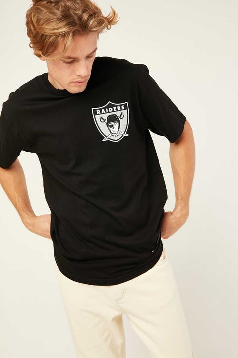 Mitchell & Ness NFL Retro Repeat Raiders Tee Black