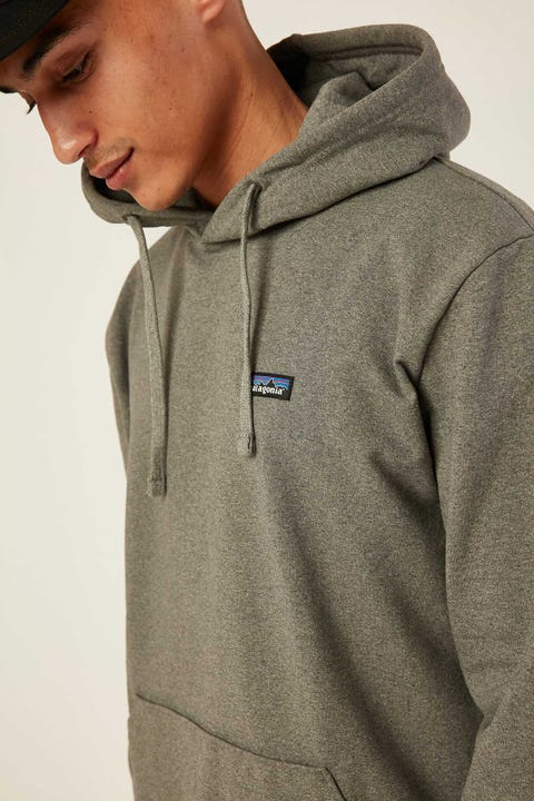 Patagonia M's P-6 Badge Uprisal Hoody Gravel Heather