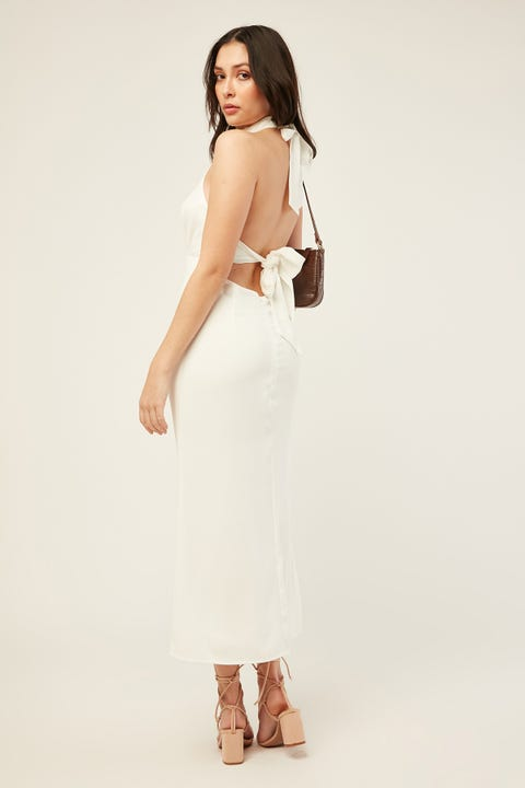 PERFECT STRANGER Another Day Midi Dress White