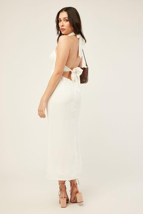 Perfect Stranger Another Day Midi Dress White