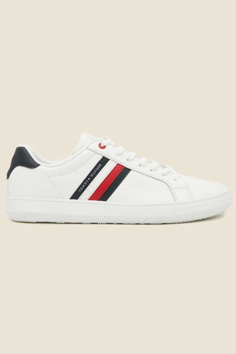 Tommy Jeans Mens Essential Leather Cupsole White