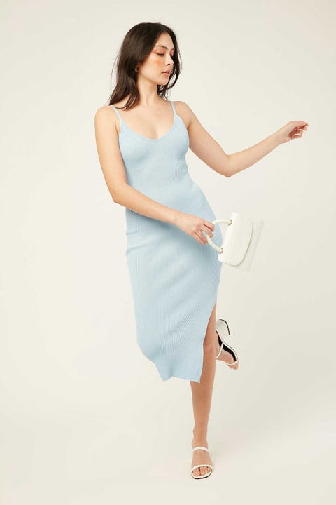 PERFECT STRANGER Chicago Midi Dress Icy Blue