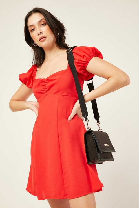 LUCK & TROUBLE Dreamboat Dress Red