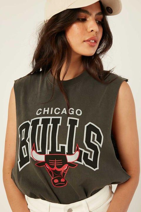 Mitchell & Ness Chicago Bulls Keyline Muscle Tee Vintage Black