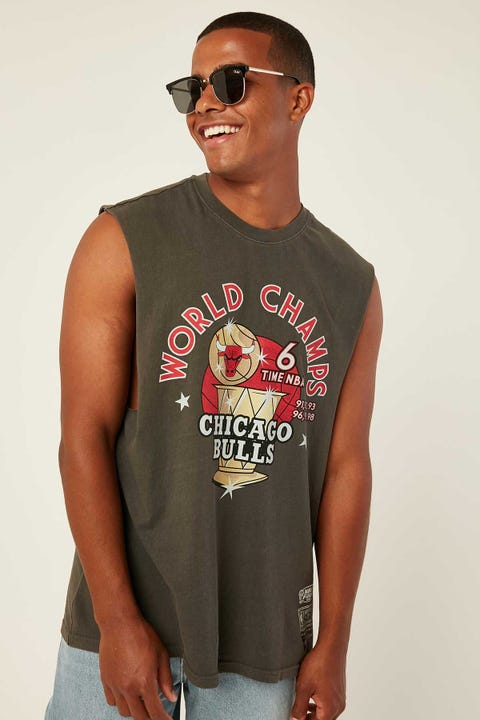 Mitchell & Ness Chicago Bulls World Champs Muscle Tee Vintage Black